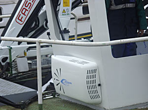 Air-conditioning for boat of cleaning
